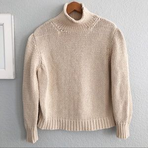 J. Crew Chunky Knit Turtleneck Sweater In Cream